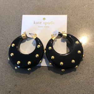 NWT Kate Spade Horn Hoop Earrings